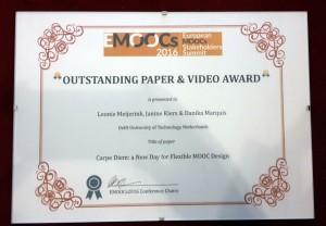 eMOOCs2016 award certificate